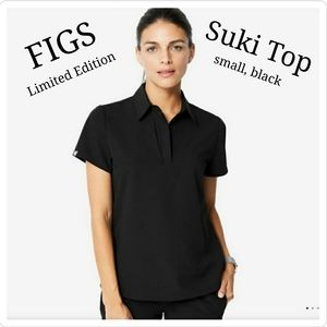 BNWT Figs Limited Edition Suki Top Small in Black